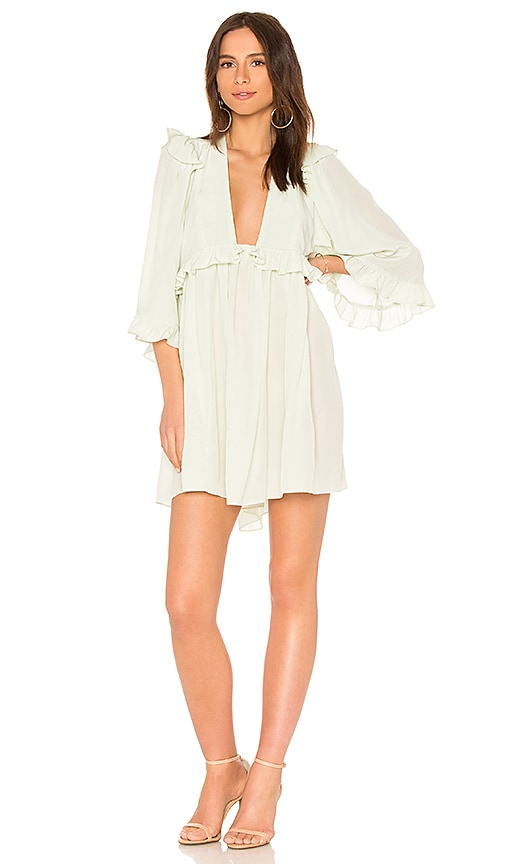 STONE COLD FOX Angeles Babydoll Dress in Sage