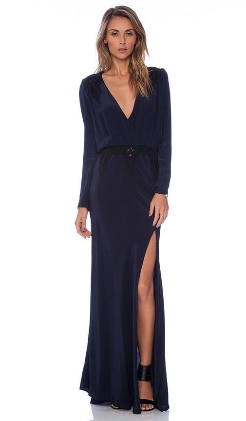 STONE_COLD_FOX Alabama Gown in Navy & Black