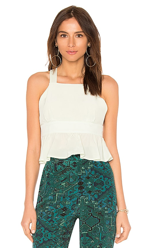 STONE COLD FOX La Brea Crop in Sage