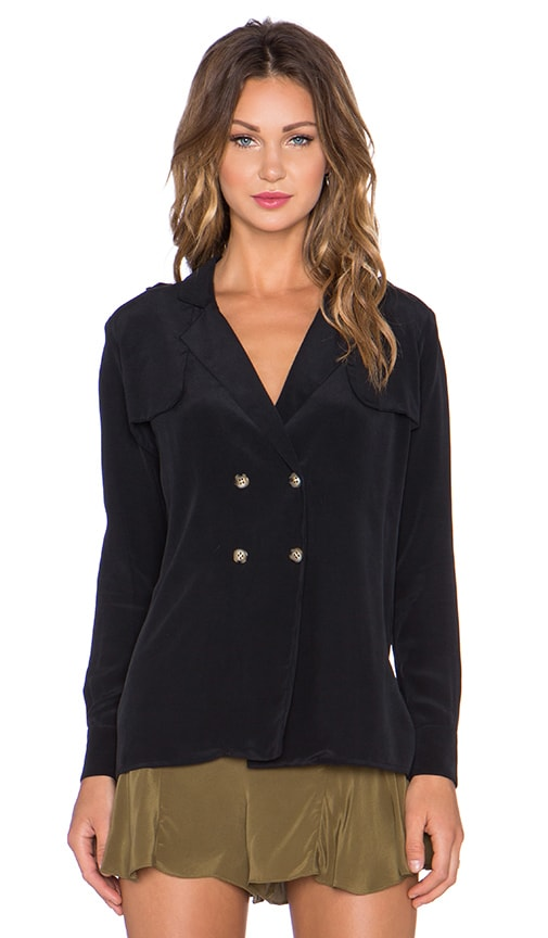 STONE_COLD_FOX Webster Blouse in Black Silk