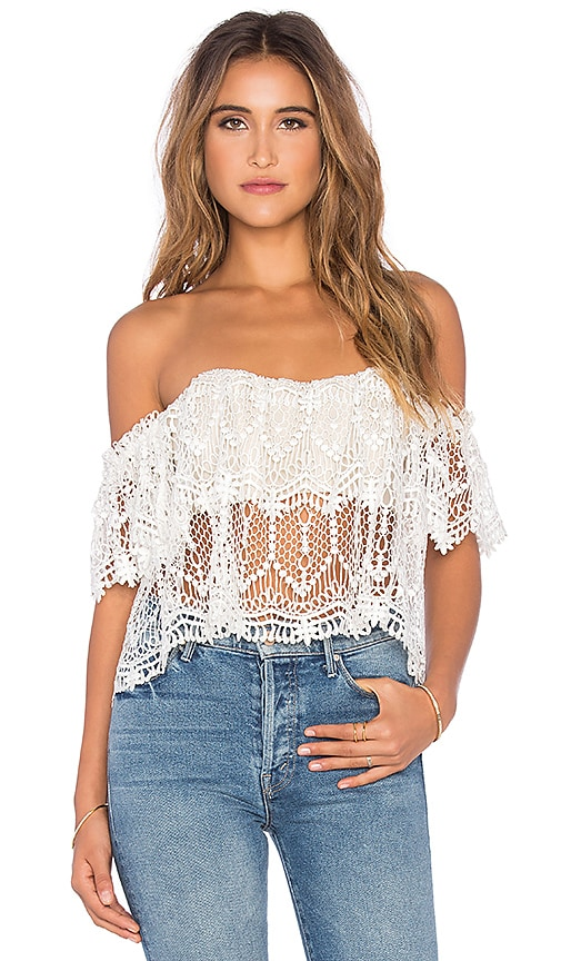 STONE_COLD_FOX Moroccan Holy Tube Top in Ivory & Nude