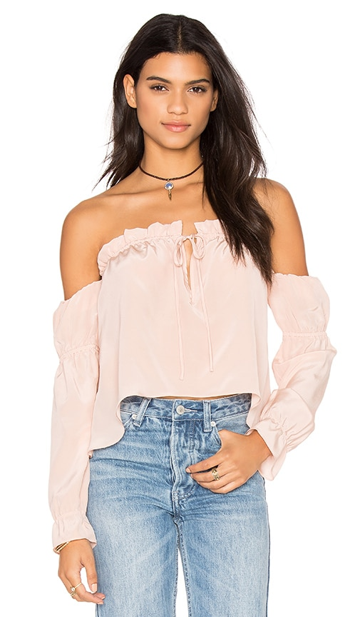 STONE_COLD_FOX x REVOLVE Nate Blouse in Dusty Rose