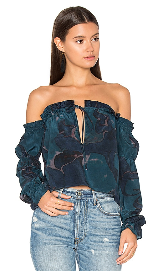 STONE_COLD_FOX x REVOLVE Nate Blouse in Blue