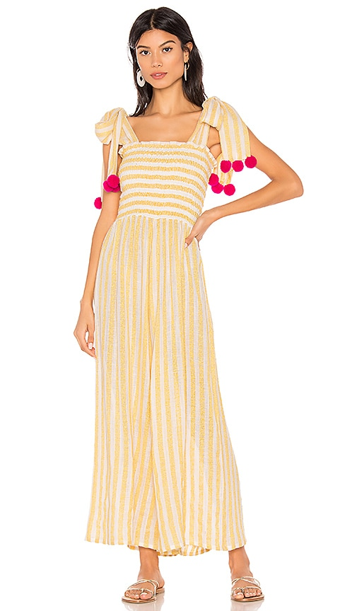 0457baff2a2 Sundress Pippa Jumpsuit in Portofino Lemon   Pink