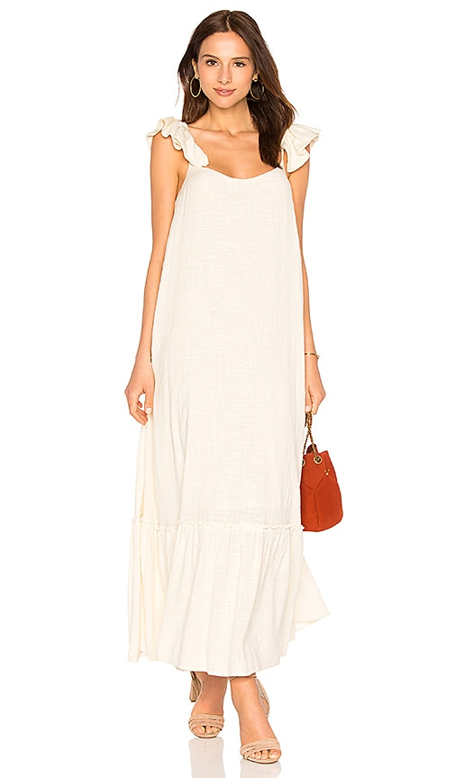 Sundress x Collage Vintage Mimi Long Dress in Cream