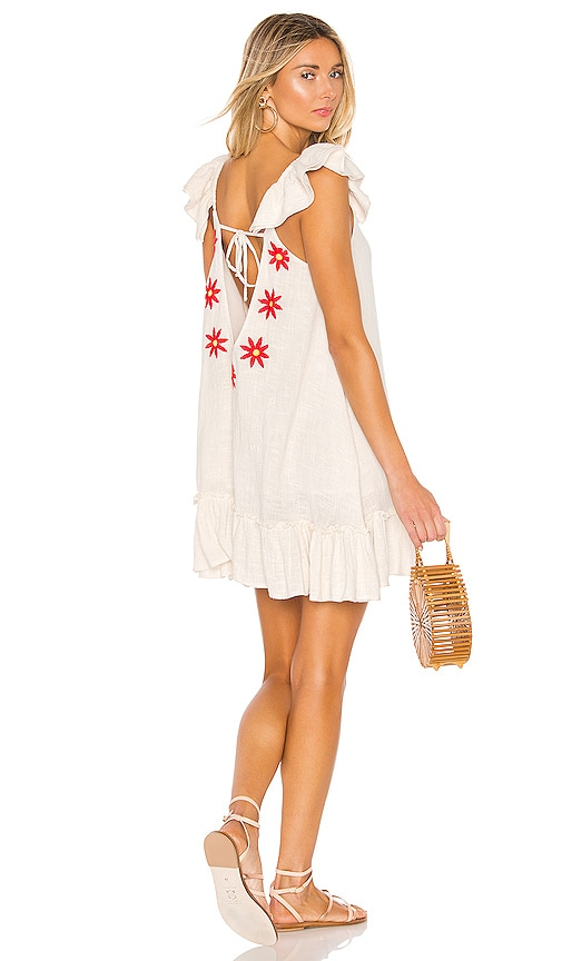 2c47f721c2 Sundress Mimi Short Dress in Off White   Daisies Embroideries