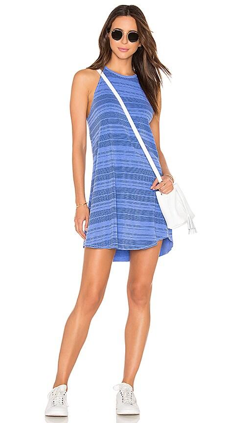 SUNDRY High Neck Tank Dress in Blue