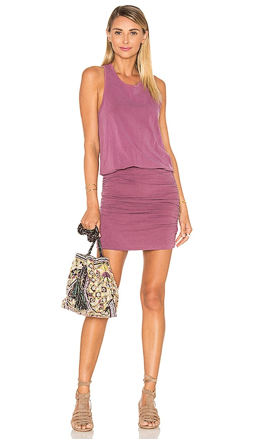 SUNDRY Slub Sleeveless Dress in Pink