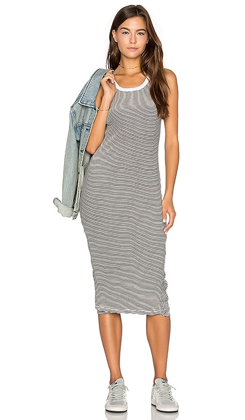 SUNDRY Midi Dress in Cream
