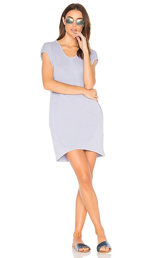 SUNDRY Tunic Pocket Dress in Gray