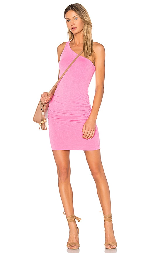 SUNDRY One Shoulder Dress in Pink