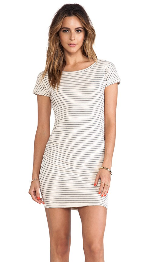 Boat Neck Striped Dress