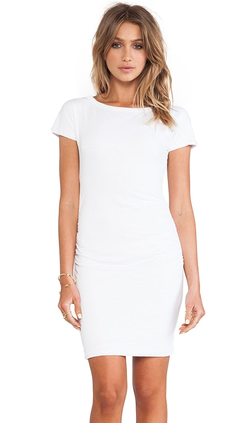 Boat Neck Ruched Dress