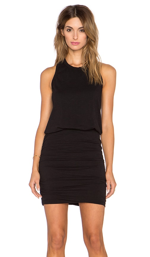 SUNDRY Sleeveless Dress in Black