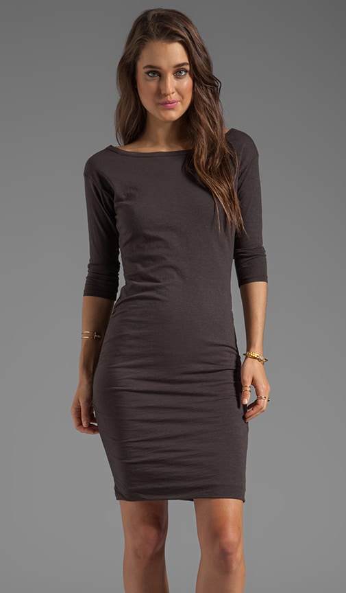 3/4 Sleeved Ruched Dress