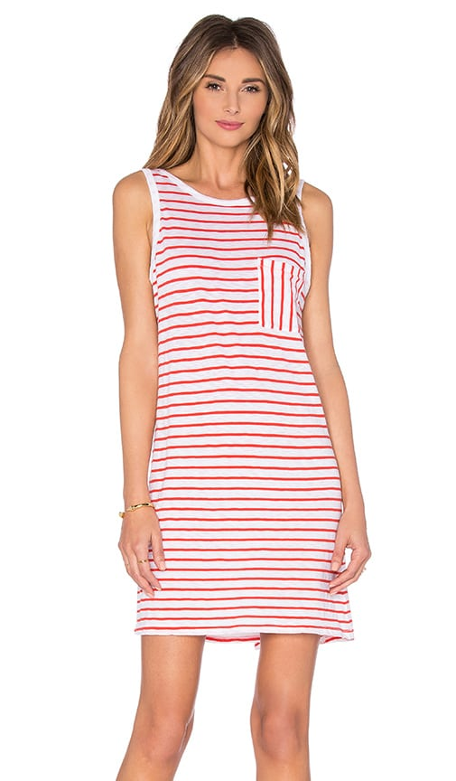 SUNDRY Pocket Tank Dress in Red