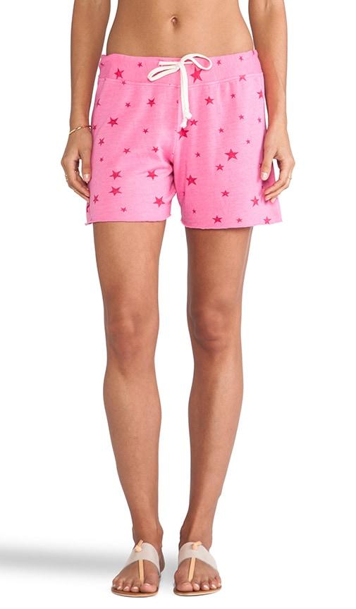 Star Pattern Sweat Shorts