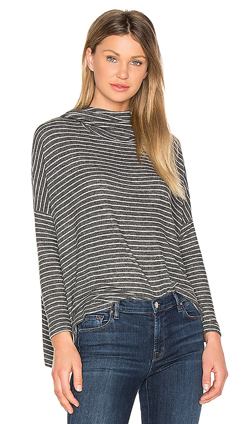 SUNDRY Drapey Pullover in Charcoal