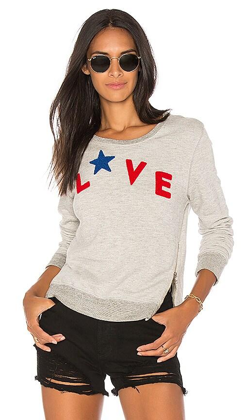 SUNDRY Love Sweatshirt in Gray