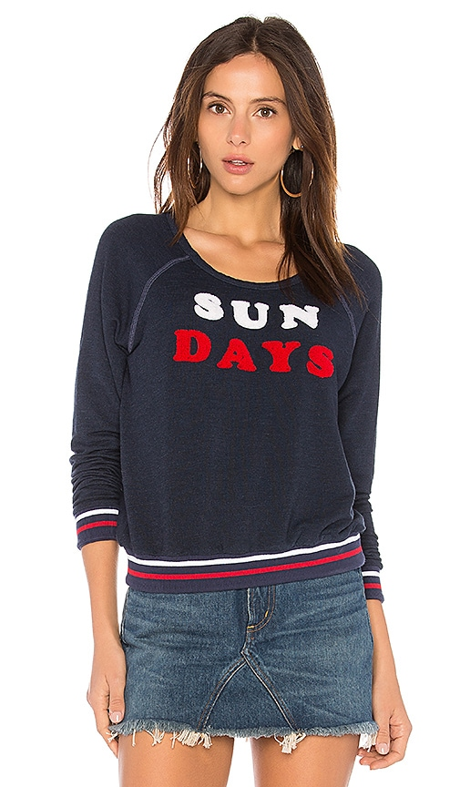 SUNDRY Sun Days Sweater in Navy