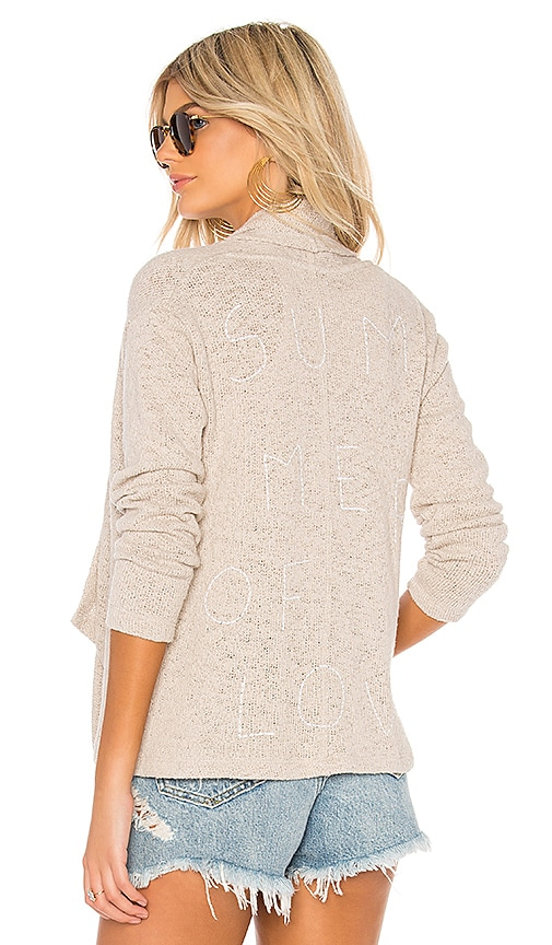 SUNDRY Summer Of Love Cardigan in Beige