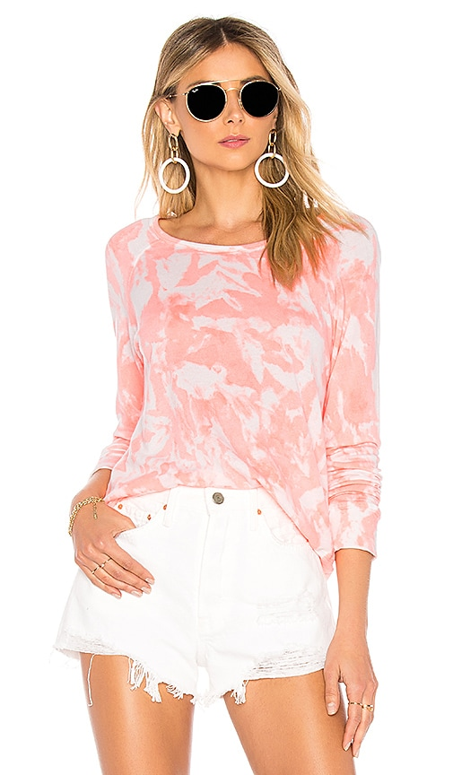 SUNDRY Crop Pullover in Coral