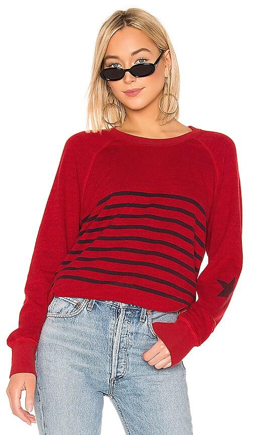 Striped Raglan Pullover