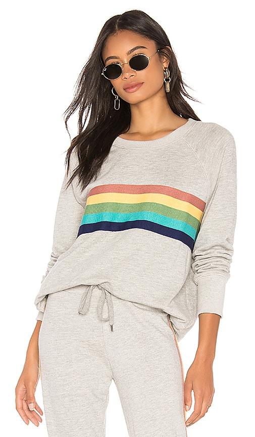 Rainbow Stripes Raglan Pullover