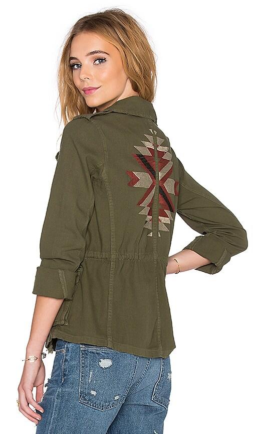 SUNDRY Traveler Military Jacket in Dark Army