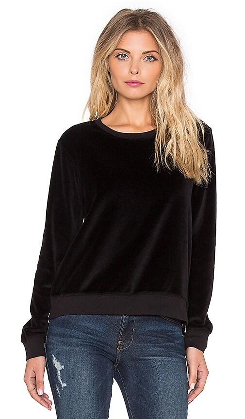 SUNDRY Double Zip Sweatshirt in Black