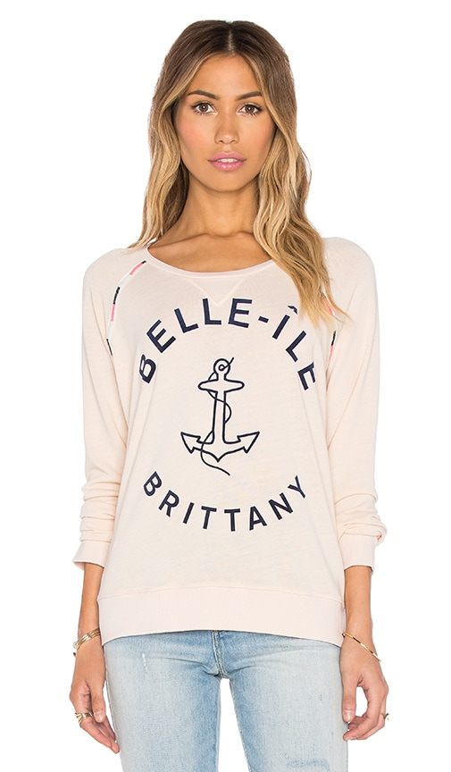SUNDRY Belle Ile Sweatshirt in Cream