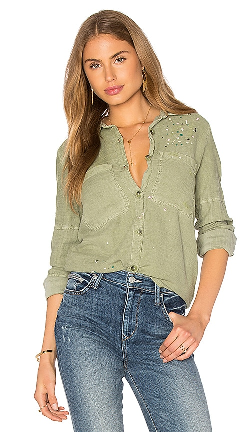 cd761394af8 SUNDRY Paint Splashes Oversized Jacket in Pigment Olive