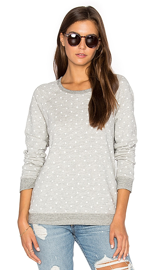SUNDRY White Dots Terry Sweatshirt in Gray