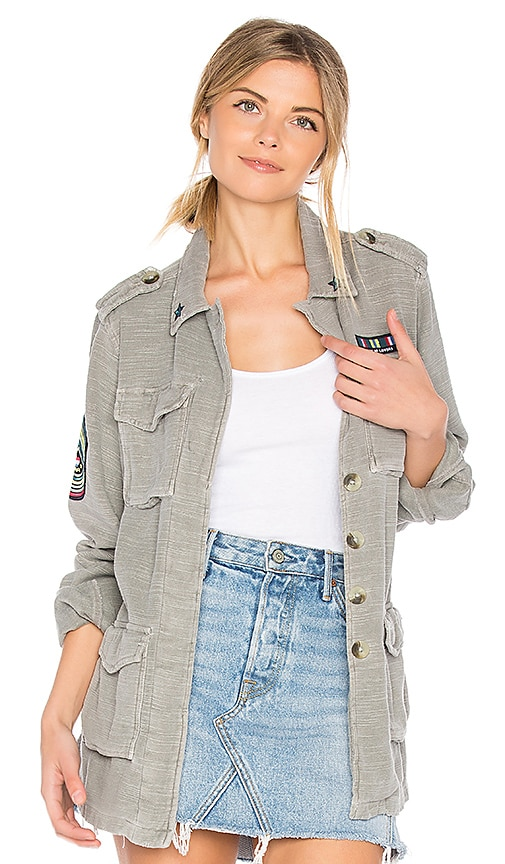 SUNDRY Patches Army Jacket in Sage