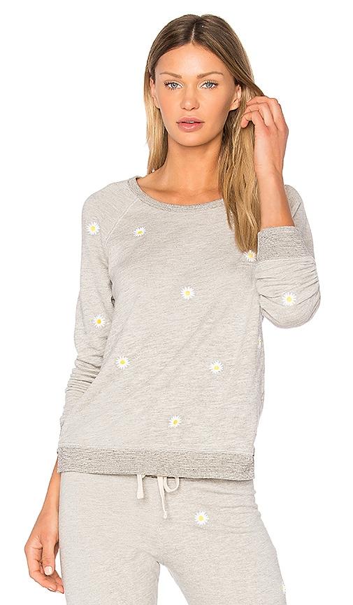 SUNDRY Daises Sweatshirt in Gray