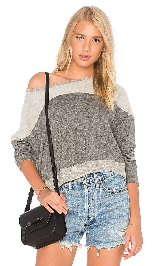 SUNDRY Reversed Yoke Sweatshirt in Gray