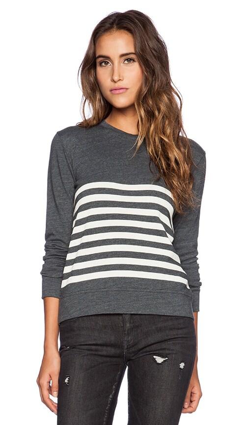 Stripe Basic Sweatshirt