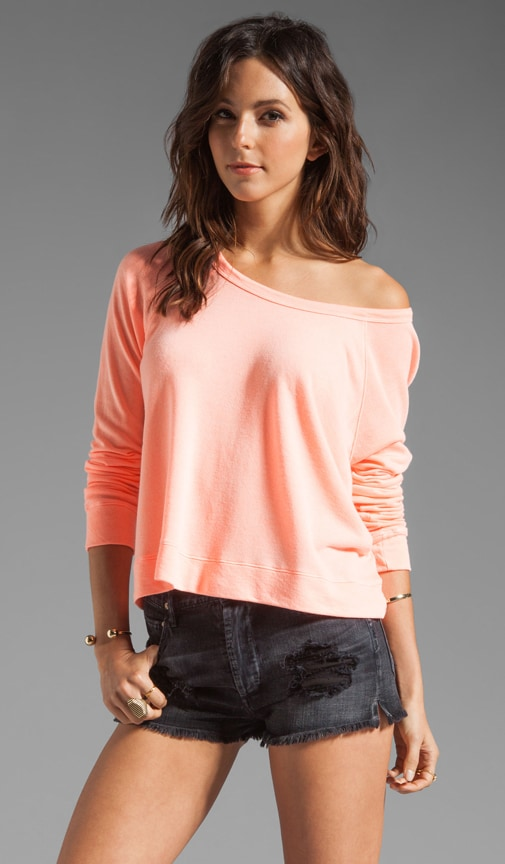 Light Terry Cropped Pullover