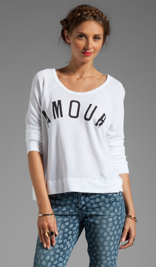 L'Amour Cropped Pullover