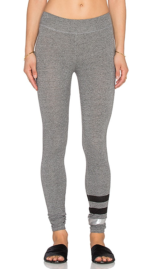 SUNDRY Striped Yoga Pant in Heather Grey