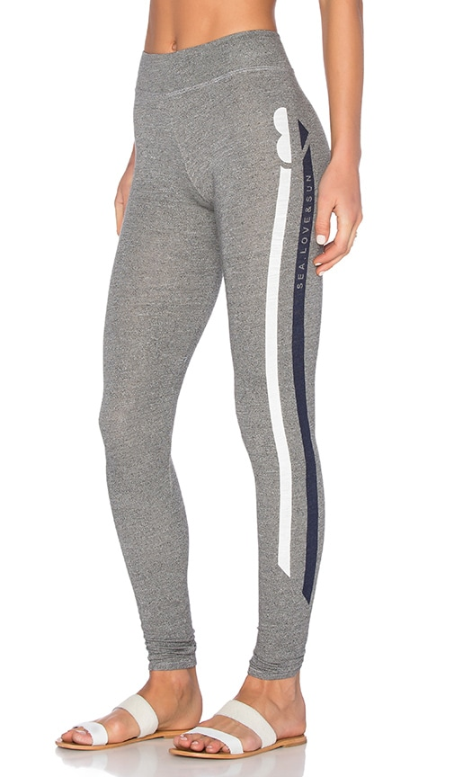 SUNDRY Sea Love Sun Yoga Pant in Grey