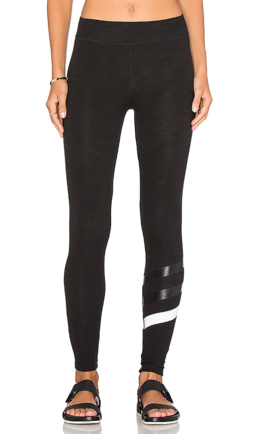 SUNDRY Stripes Yoga Pant in Black
