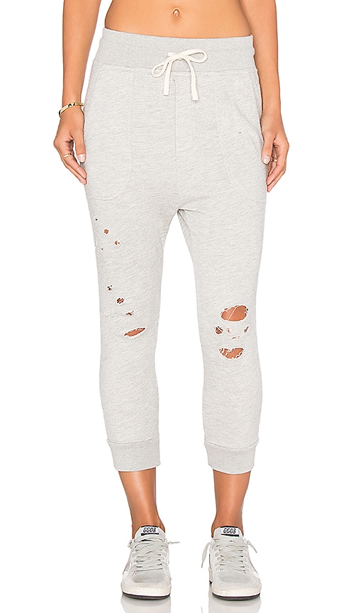 SUNDRY Terry Pant in Light Gray