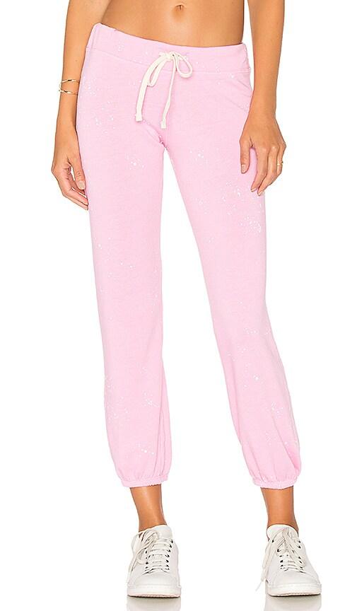 SUNDRY Classic Paint Splatter Sweatpant in Pink
