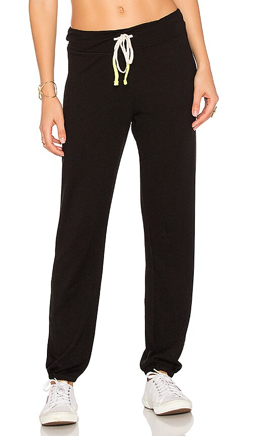 SUNDRY Light Terry Sweatpants in Black