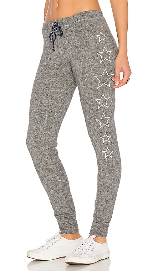 SUNDRY Stars Skinny Sweatpant in Grey