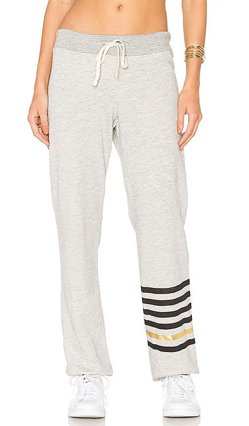 SUNDRY Stripe Sweatpant in Gray