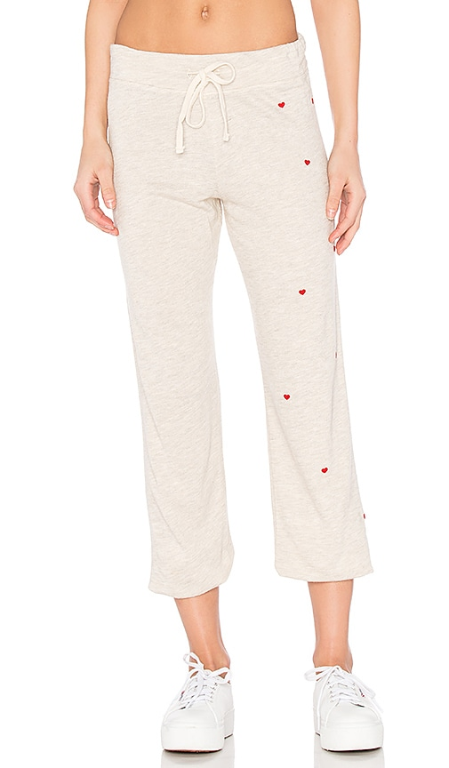 SUNDRY Heart Sweatpant in Beige