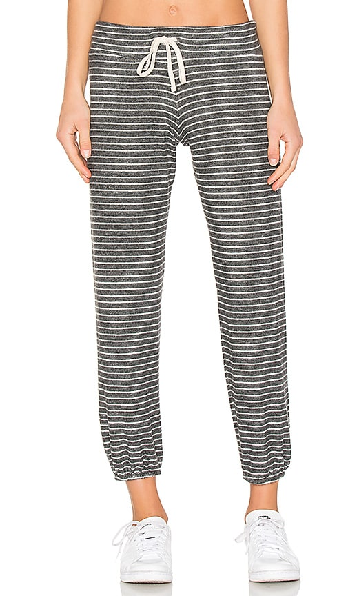 SUNDRY Stripe Sweatpant in Charcoal