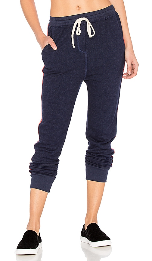 SUNDRY Tape Slash Pocket Pant in Navy